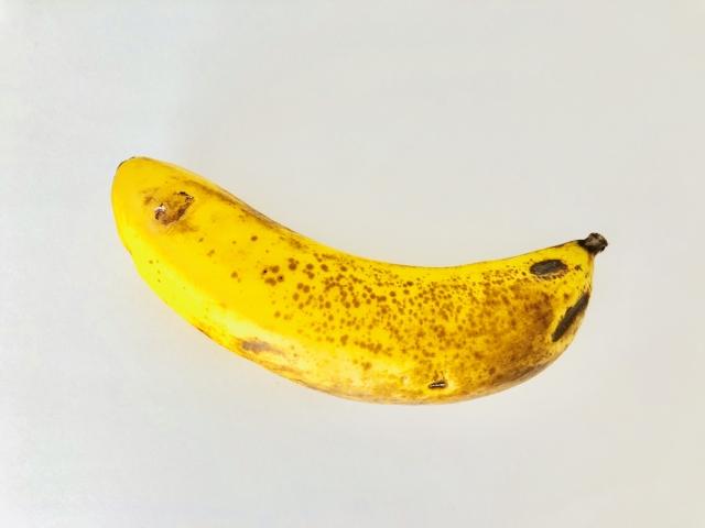 バナナ,黒い,部分