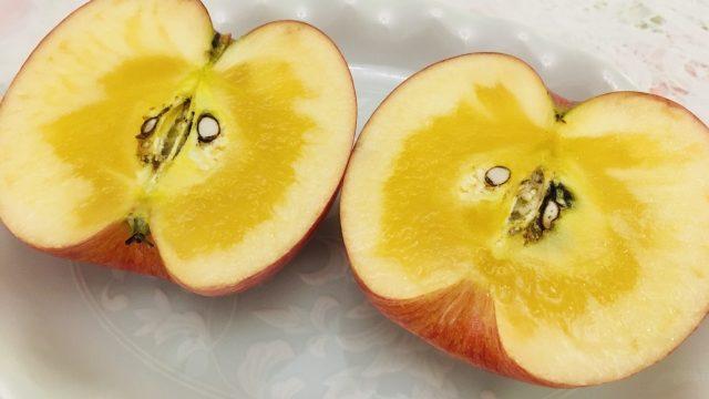 りんご,黒い,斑点