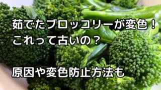 ブロッコリー,変色,食べれる